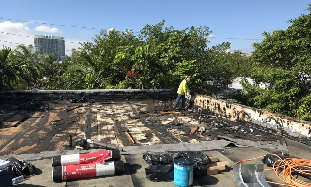 Commercial flat roof Re-roof